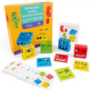 Детская настольная игра с деревянными кубиками с эмоциями