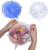Растягивающиеся крышки для посуды из силикона